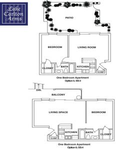 One Bedroom Apartment at Lake Carlton Arms